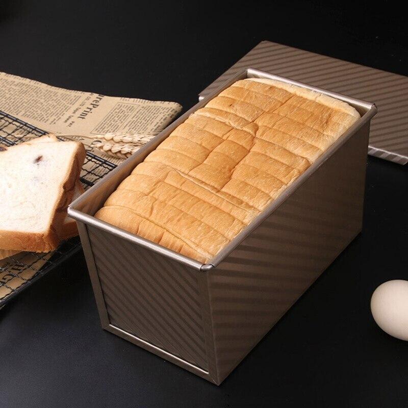 Molde para pan tostado con tapa acero al carbono antiadherente Gealuminiseerd Rose Metal dorado 20,8*11,8*11cm