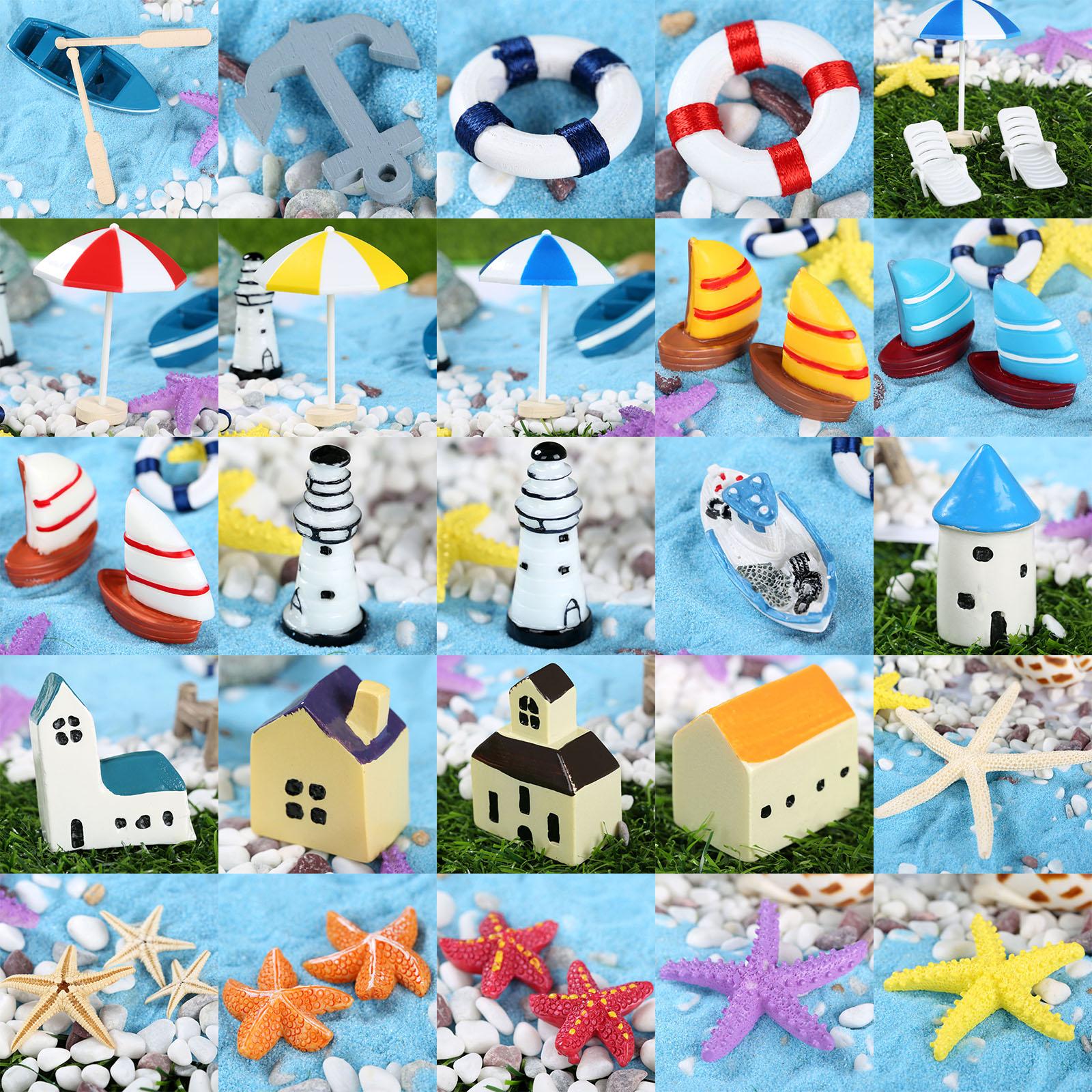 Мини искусственный пляжный стул микро Фея садовая фигурка миниатюрный/Террариум/украшение для кукольного домика орнамент DIY аксессуары