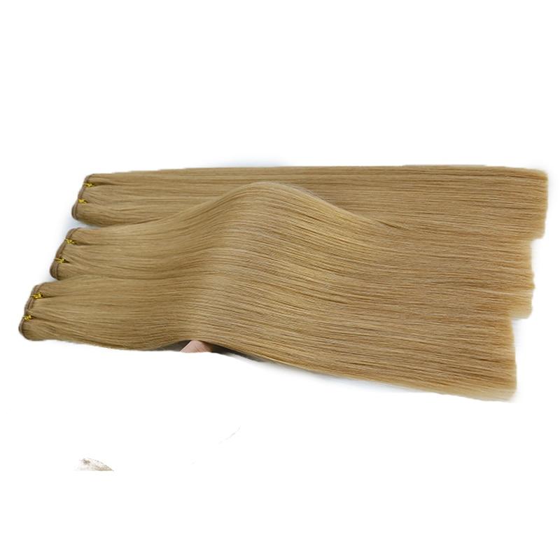 High Quality Vietnamese Hair Weft Bulk Virgin Hair Weave Cuticle Aligned Soft Human Hair Extension Color 12