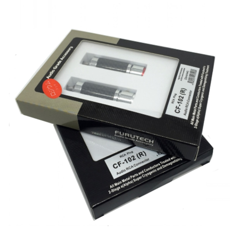 Fibra de Carbono Alça sem Caixa Furutech High-end Grau Rca Plug Desmagnetização Cf-102 r
