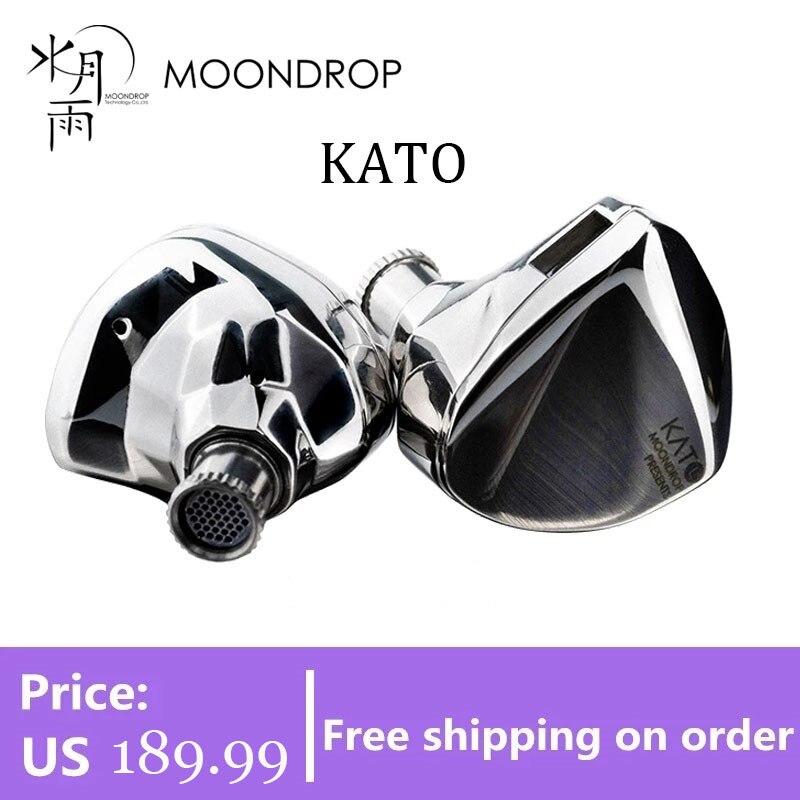 سماعات أذن ديناميكية طراز MoonDrop KATO KXXS II سماعات أذن قابلة للاستبدال مزودة بفوهة صوت عالية الجودة قابلة للانفصال 0.78 مزودة بعدد 2 سنون