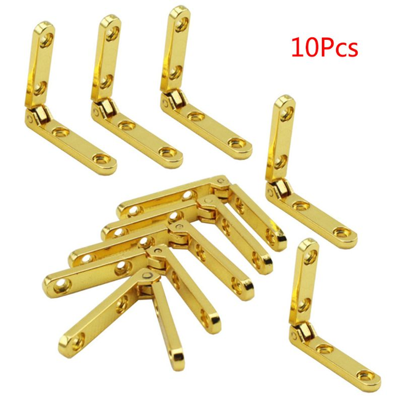 10 unids/bolsa bisagras de 90 grados bisagra de resorte de aleación de Zinc para caja de madera joyero