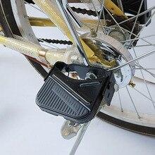 1 paire vélo pédales arrière vélo antidérapant pliant pédale acier vélo support repose-pieds vélo repose-pieds pour sécurité enfant siège arrière