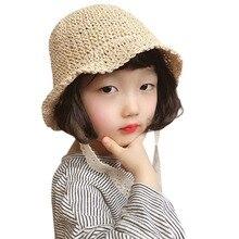 Chapeaux de paille pliables pour enfants   Casquettes circonférence 50-52cm dété, sangle coréenne, chapeau de paille, chapeau de plage pour bébé