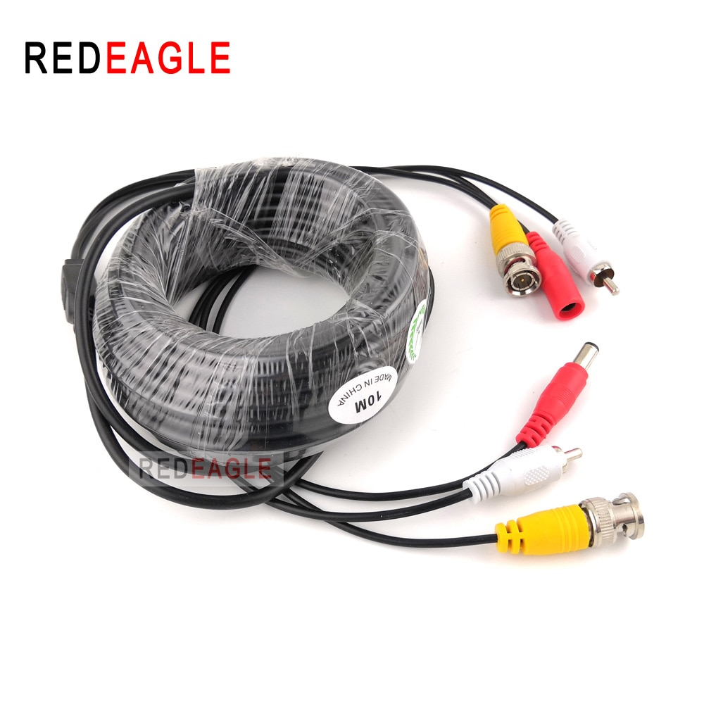 REDEAGLE 5M 10M 20M Security CCTV Cable BNC RCA CCTV Camera Video Audio AV Power Cable For AHD Surveillance Camera DVR System enlarge
