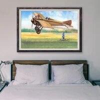 Peinture classique retro T120  48 affiches personnalisees en soie  operations de vol davion de guerre  decoration murale  cadeau de noel