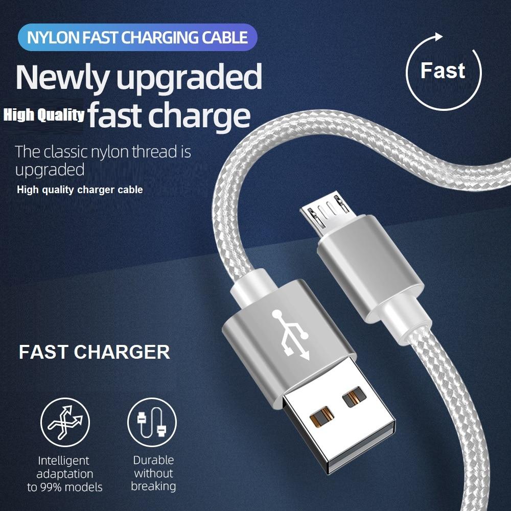 Cable de carga rápida de 18W, Cable de carga Micro USB de...