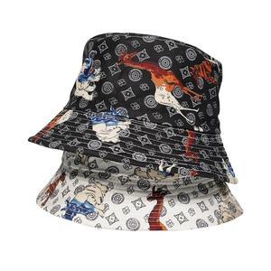 2021 Cotton four seasons Animal Elephant Print Bucket Hat Fisherman Hat Outdoor Travel Hat Sun Cap Hats for Men and Women 432