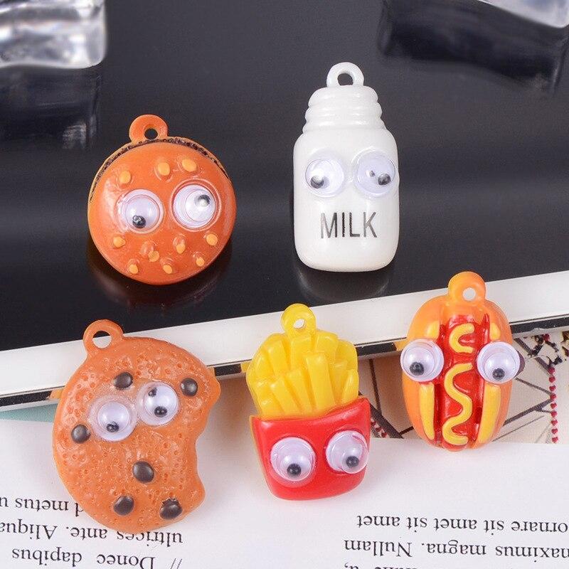 Comida de imitación jugar Super luz abalorios de arcilla para DIY accesorios para Slime pegamento para Clay aditivos en la diapositiva Material de resina Juguetes
