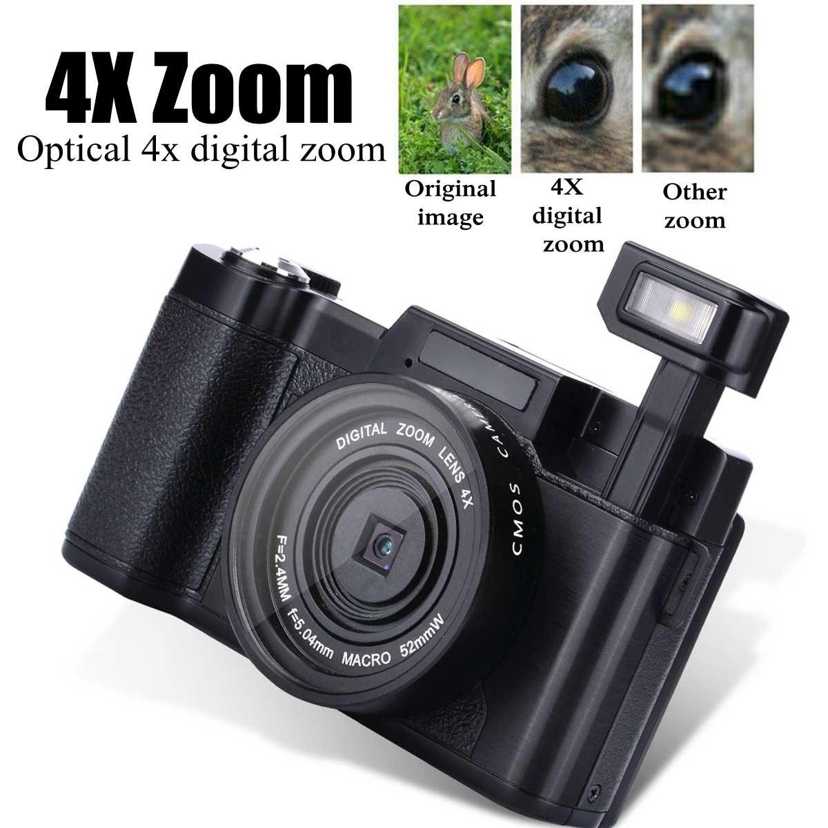 New Design Vlog Digital Camera Full HD 1080P Professional Video Camcorder Vlogging Camera 8.0 MP CMOS Max 24MP
