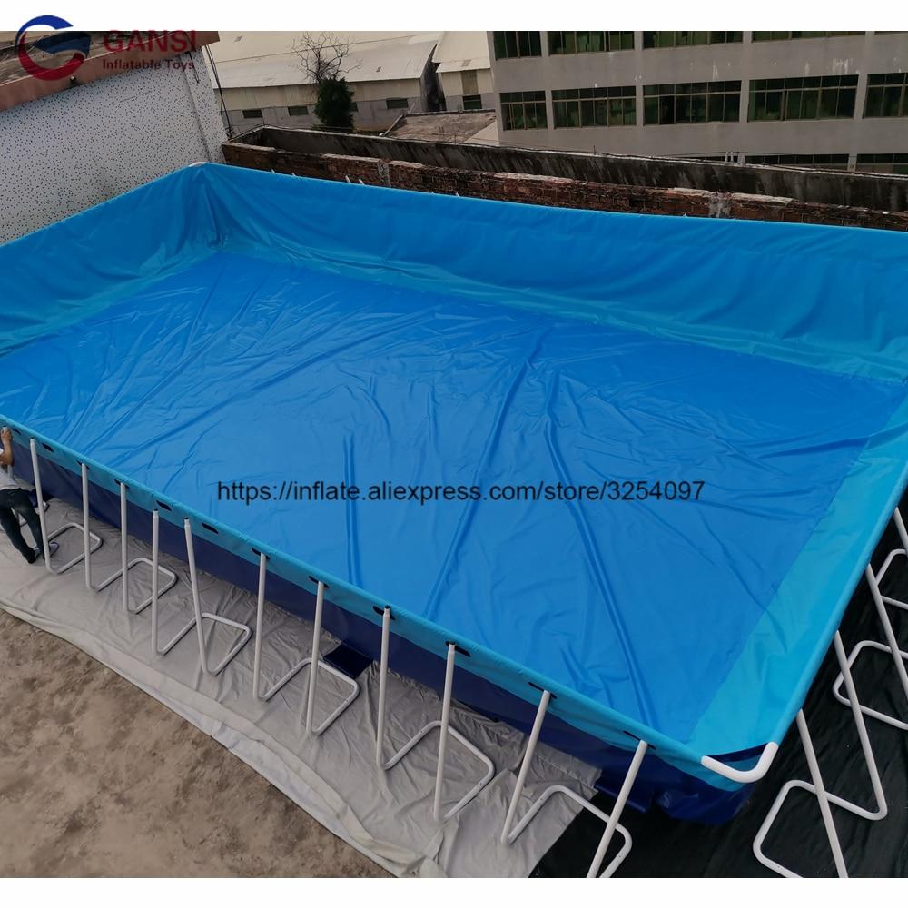بركة سباحة مخصصة فوق الأرض حمام سباحة بإطار معدني Intex للحديقة