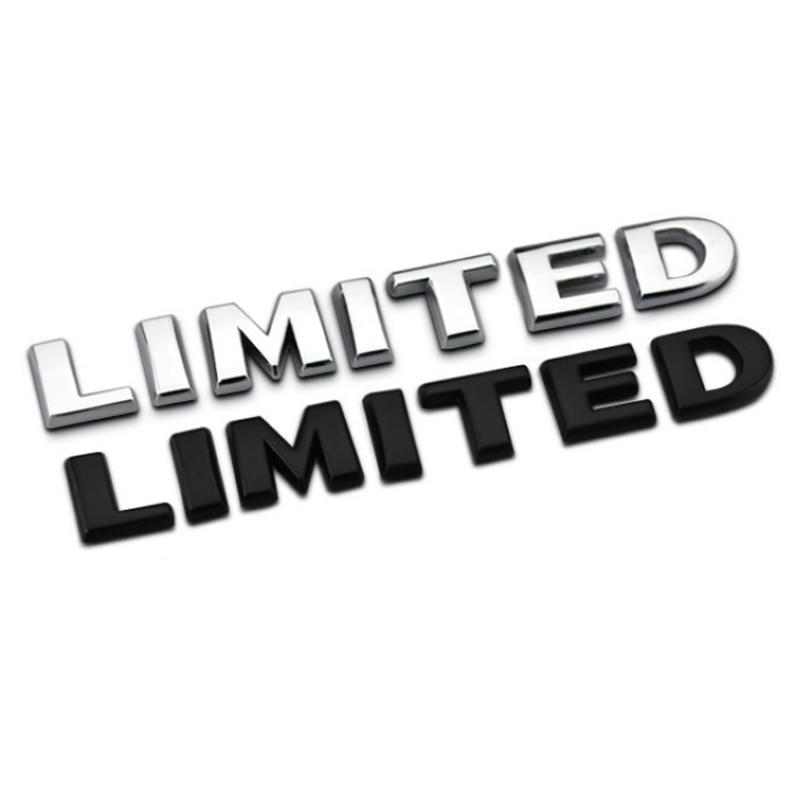 Limitada 3D insignia metálica con logotipo decoración del emblema accesorios coche pegatina para Jeep Cherokee Wrangler Patriot Compass Renegade Grand