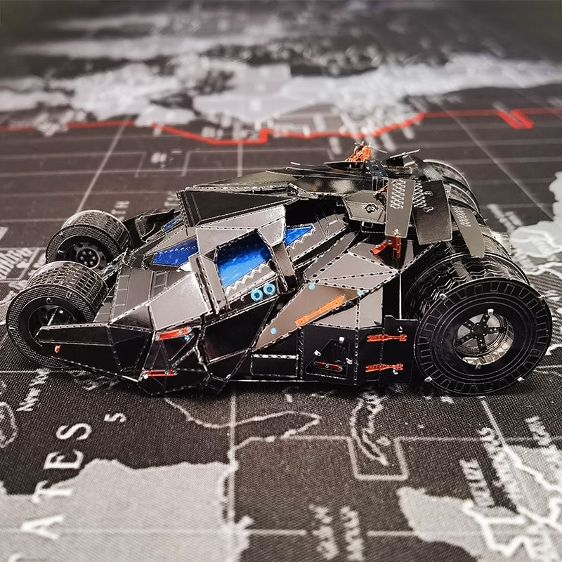 Metalhead 3D Metal Puzzle Dark Knight Batmobile Model DIY Assembly Laser Cut Jigsaw Toys for Adult