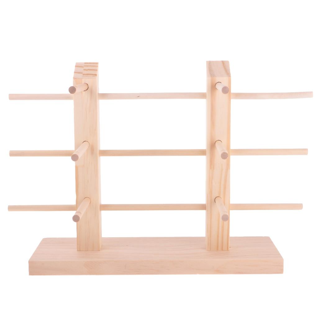 Wooden Stand Demountable DIY Sunglasses Display Organizer 2-Row 3/4/5 Layers