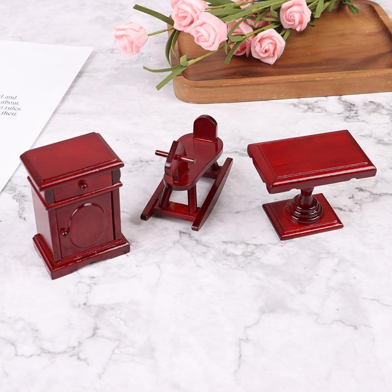 112 casa de muñecas mecedora silla con forma de Caballo Cuarto de niños muebles accesorios juguetes para niños casa de muñecas en miniatura