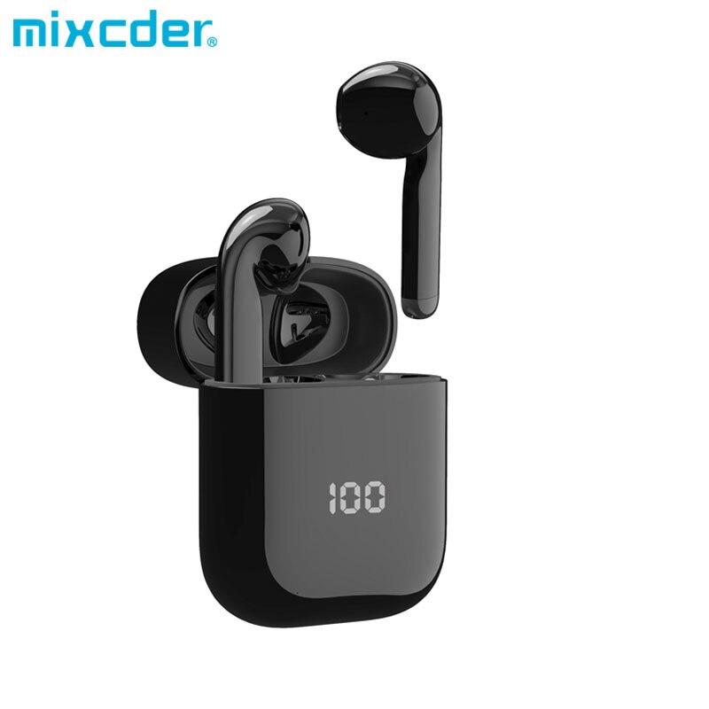 Mixcder X1 TWS Bluetooth Drahtlose Kopfhörer mit 4 Mikrofon BT 5,1 Geräuschunterdrückung Ohrhörer Sport Kopfhörer 24Hrs Playtim