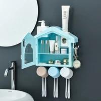 Distributeur automatique de dentifrice etanche a la poussiere  stockage de produits cosmetiques  accessoires de salle de bain  maison
