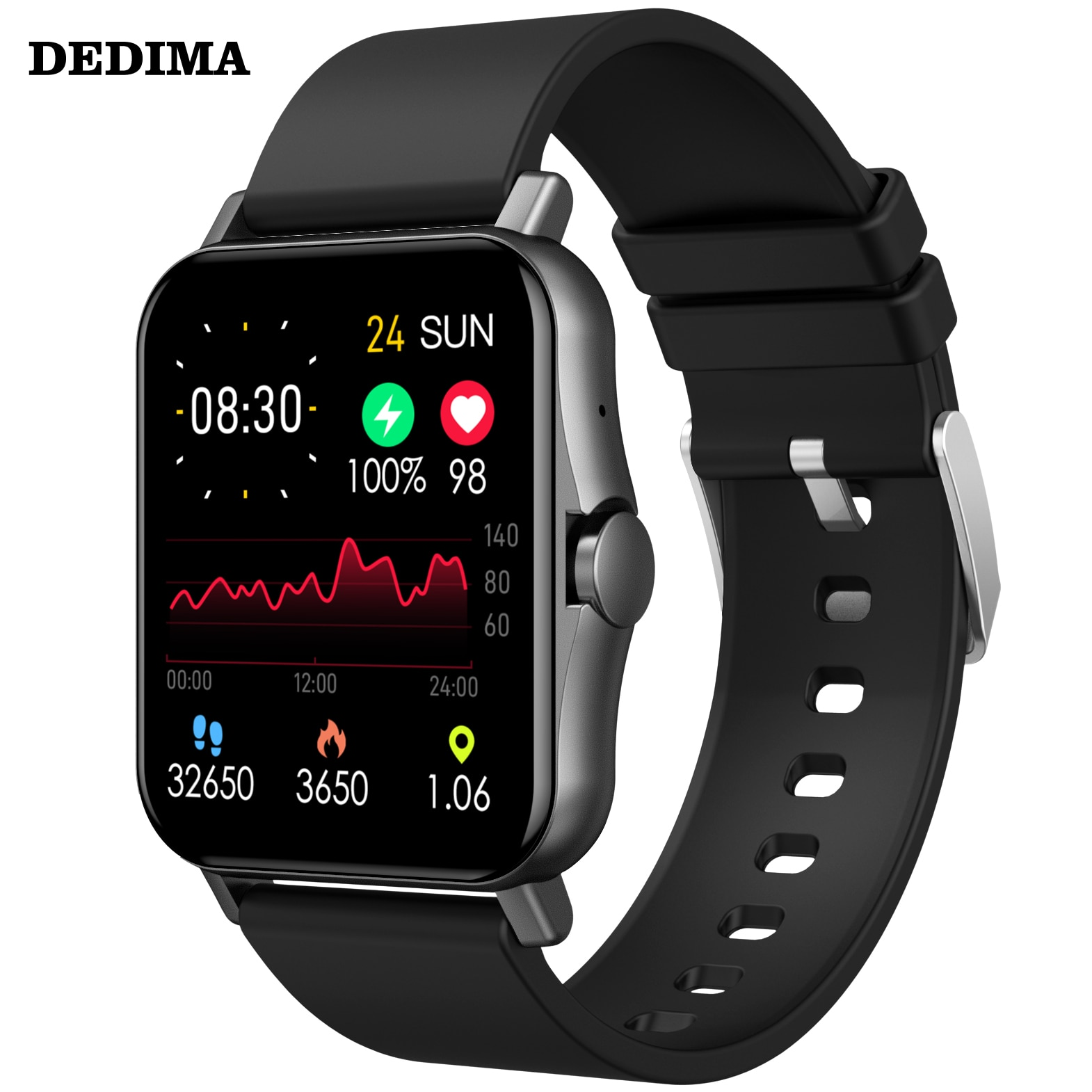 DEDIMA 1.4 بوصة ساعة ذكية الرجال كامل اللمس جهاز تعقب للياقة البدنية ضغط الدم ساعة ذكية النساء GTS Smartwatch ل أندرويد iOS