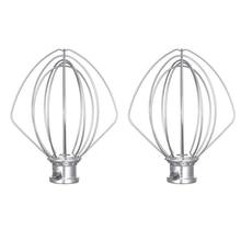 2 Pcs Stainless Steel Wire Whip Mixer Attachment for K45Ww 9704329 Flour Cake Balloon Whisk Egg Cream Stirrer-Dropship