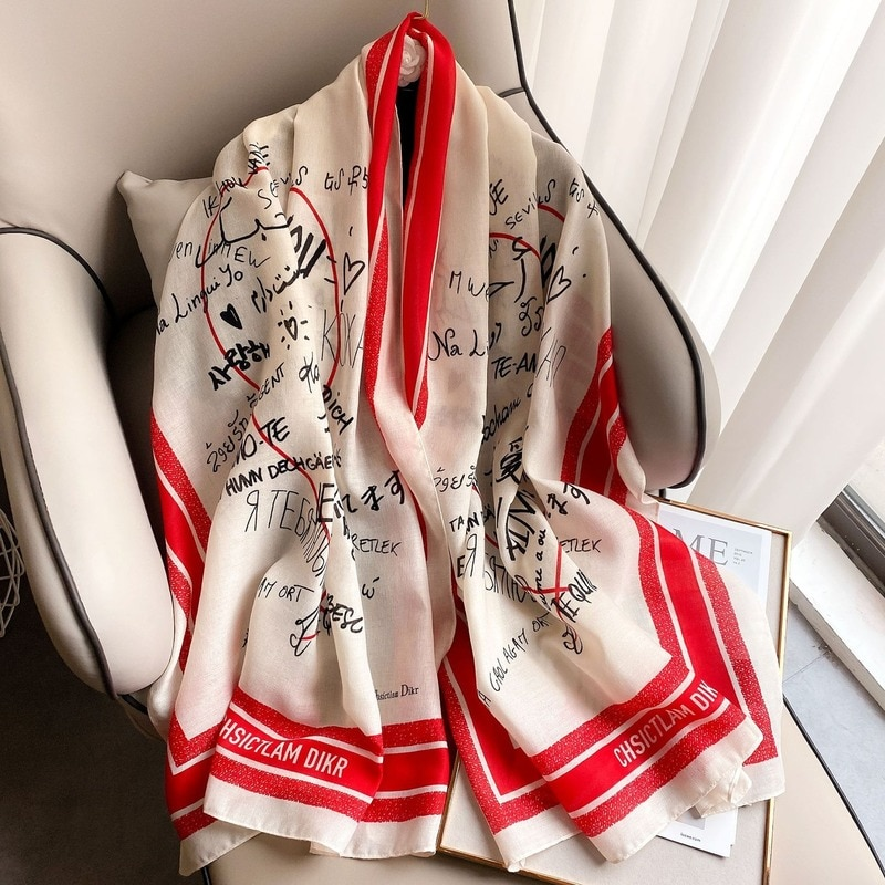 Europe and The United States Wind Cotton Scarf Women Fashion Tourism Shawl Sunscreen Decorative Scarf