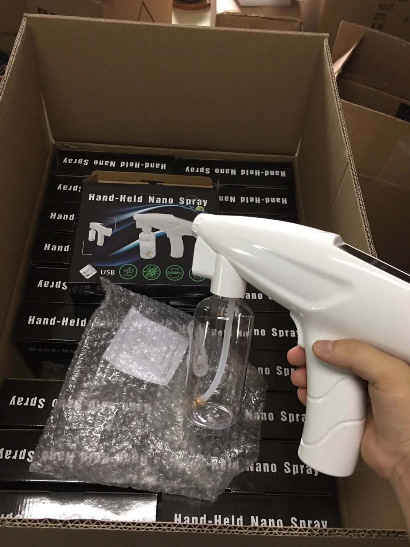 Wireless Nano Spray Gun Disinfection Gun Blu-ray Handheld Outdoor Disinfection Sprayer Car Sterilization Atomizer USB Steam Gun