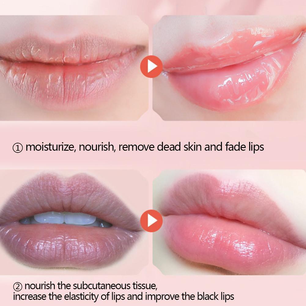 Propolis Lip Balm Nourishing Moisturizing Lip Glaze Sleeping Lip Lip Anti-Peeling Moisturizing Balm Deep R1X2
