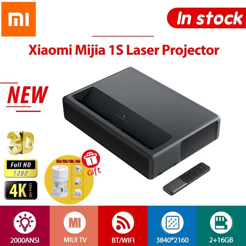 Xiaomi 1S Projector 4K TV Full HD 3D Android Laser Projectors Wireless Phone HDR 2GB 16GB 2000ANSI BT WiFi 150 inch ALPD HD
