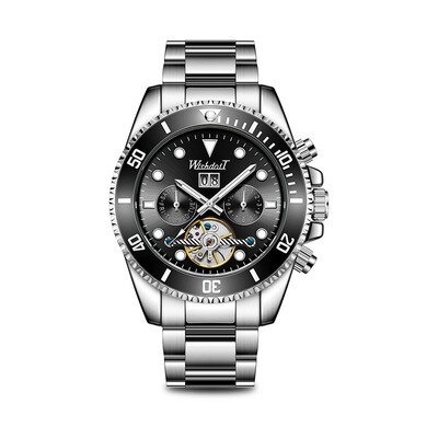 2021 Trendy Men's Automatic Mechanical Watches New Waterproof Fashion Multifunctional Watches Cool-Looking Exquisite Style