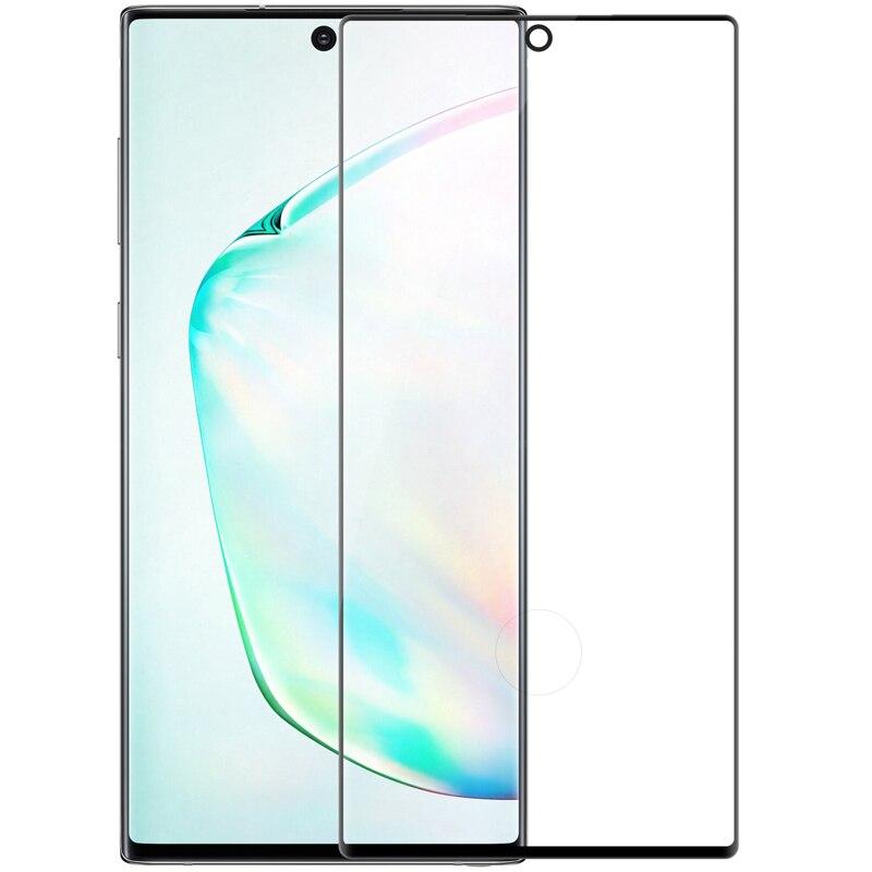 Para Samsung Galaxy Note 10 + vidrio templado NILLKIN 3D CP + cobertura completa máxima Protector de pantalla antiexplosión película Anti-explosión