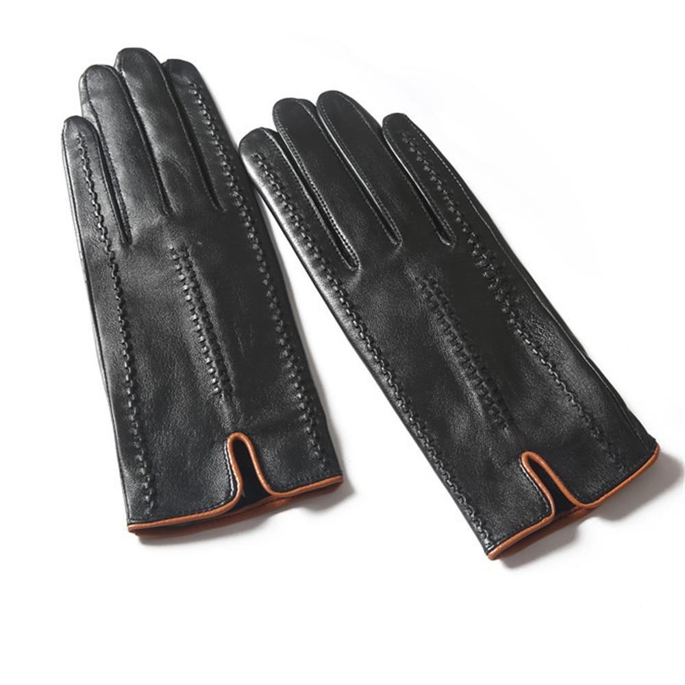 Nuevos guantes de piel de oveja para mujer invierno cálido más terciopelo primavera Otoño Invierno conducción SP04