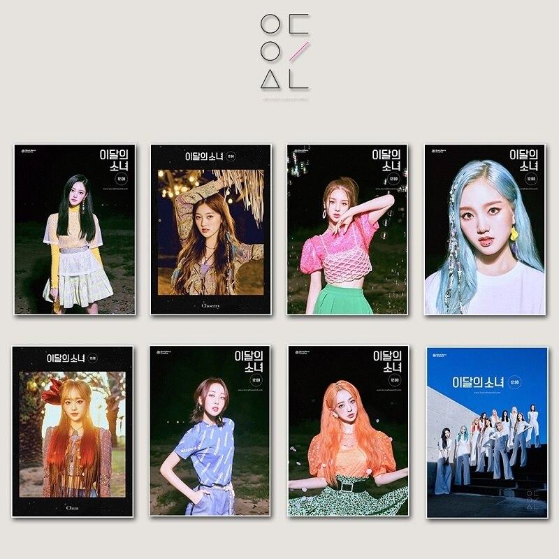 KPOP LOONA новые изображения девушек периферийные постеры месяца 12:00 наклейка фото орбитальная коллекция постер горячая распродажа