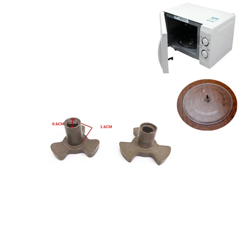 1 Uds 17mm horno microoondas giratorio guía de rodillos de apoyo acoplador bandeja del eje