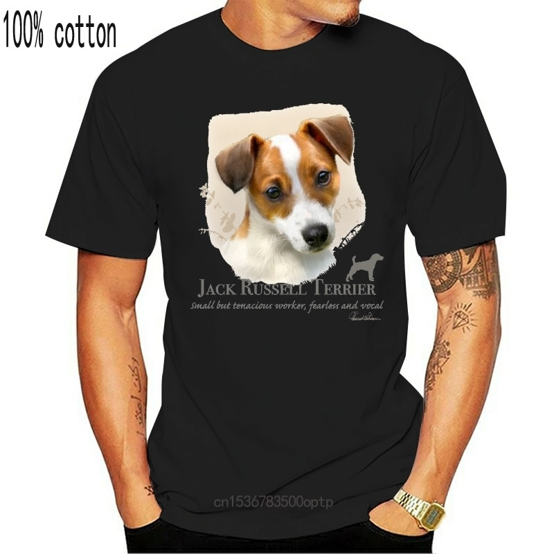 New Jack Russel Terrier Ladies Shirt Puppy Pet Rescue Dog Owner WomenS Tee Brand Fashion Tee Shirt