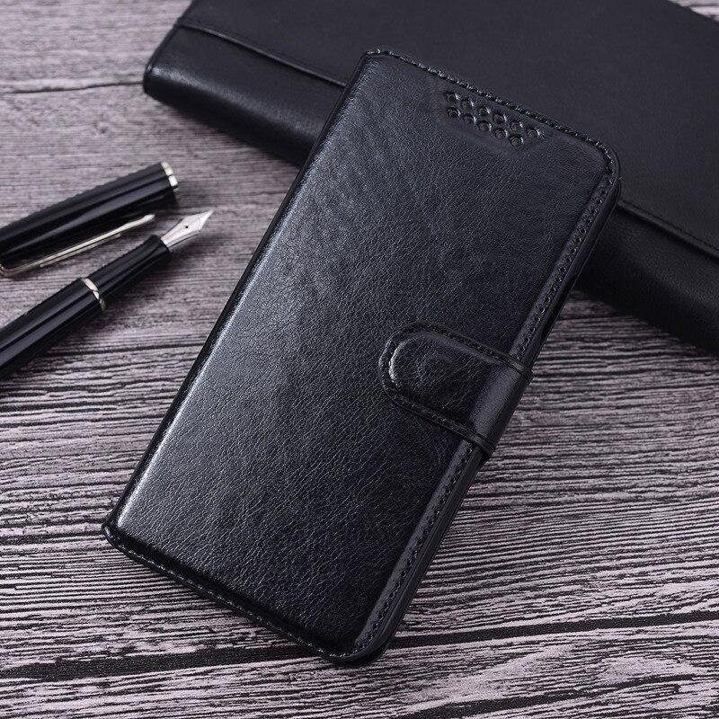 Funda Cartera de cuero Retro de negocios Folio con función de soporte para LG L Fino D295 LG L Fino Dual D290N funda abatible LG L70 +