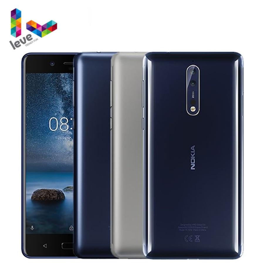 Оригинальный сотовый телефон Nokia 8 TA1012, на базе Android, 5,3 дюйма, Восьмиядерный, 4 Гб ОЗУ 64 Гб ПЗУ, двойная тыловая камера, 13 МП, 4G LTE, разблокированн...