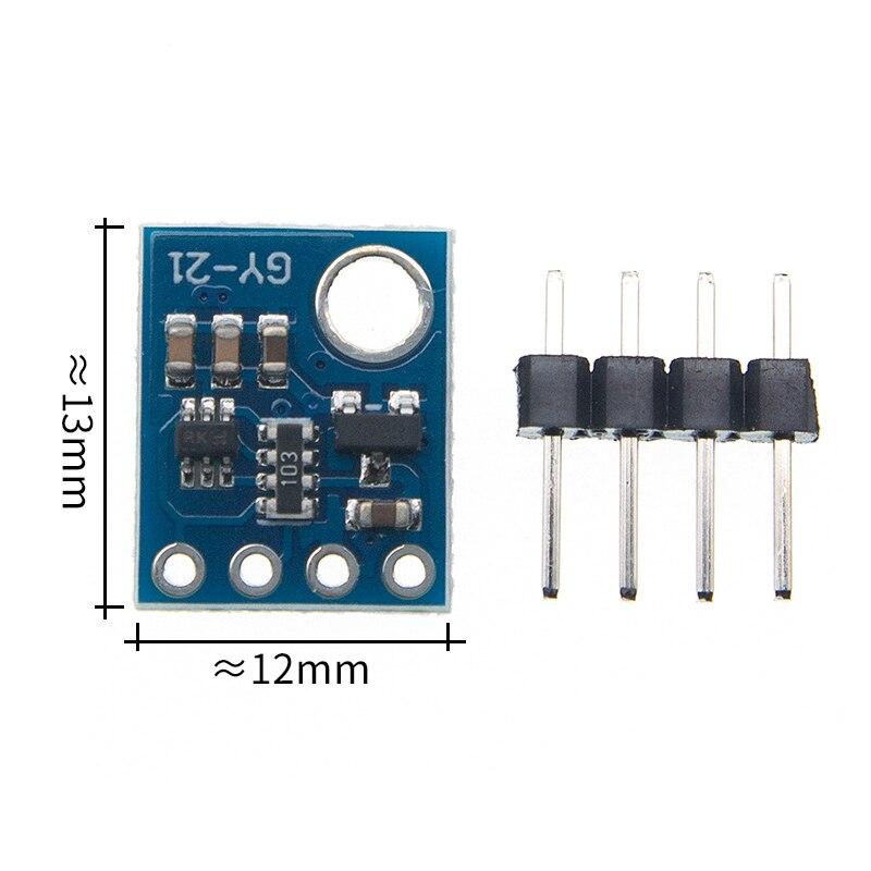 Capteur dhumidité avec Interface I2C IIC Si7021 haute précision industrielle GY-21 Module de capteur de température faible puissance CMOS 3-5V