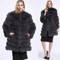 new fur coat womens middle and long tide slim fit versatile coat fur one coat women