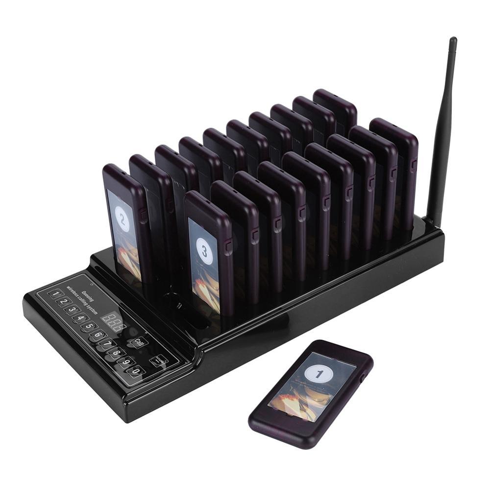 SU-68Z restaurante buscapersonas sistema de llamadas inalámbrico de 999 canales con 20 receptores sistema de paginación de invitados para restaurante 433,92 MHz