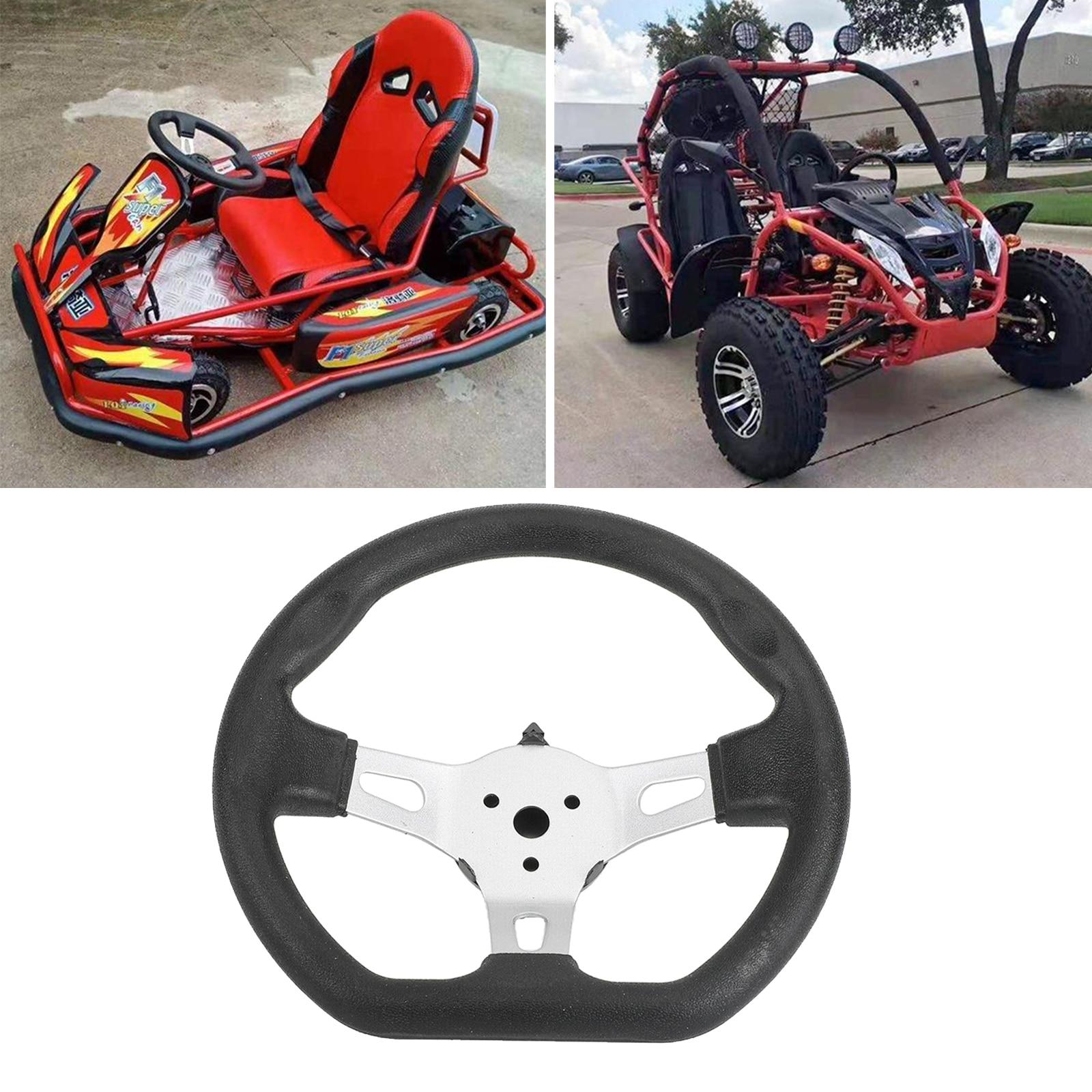 270mm Go Kart Steering Wheel Kart Parts Replacement For Go-Kart Buggy Racing Cart Accessory