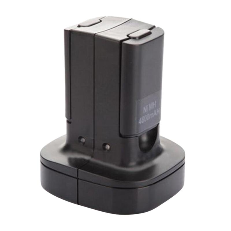 Estación de carga Dual con 2 uds., batería recargable de 4800Mah, luz de carga Led para x-box 360, controlador con enchufe estadounidense