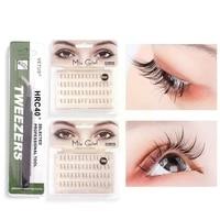 a shape professional makeup individual lashes cluster natural fluffy eyelashes false mink eyelash extension f8e9