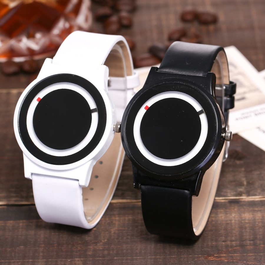 Reloj de cuarzo para mujer, moda de gran oferta, creativo, Casual, correa de cuero de Color puro, reloj de correa Newv, reloj analógico, reloj de regalo, reloj de regalo, mochilas