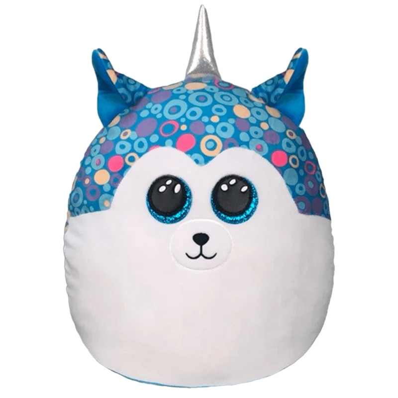18 см Ty Beanie с большими глазами, синяя Подушка хаски, мягкие плюшевые животные, коллекция, милые супер мягкие прикроватные игрушки, кукла, пода...