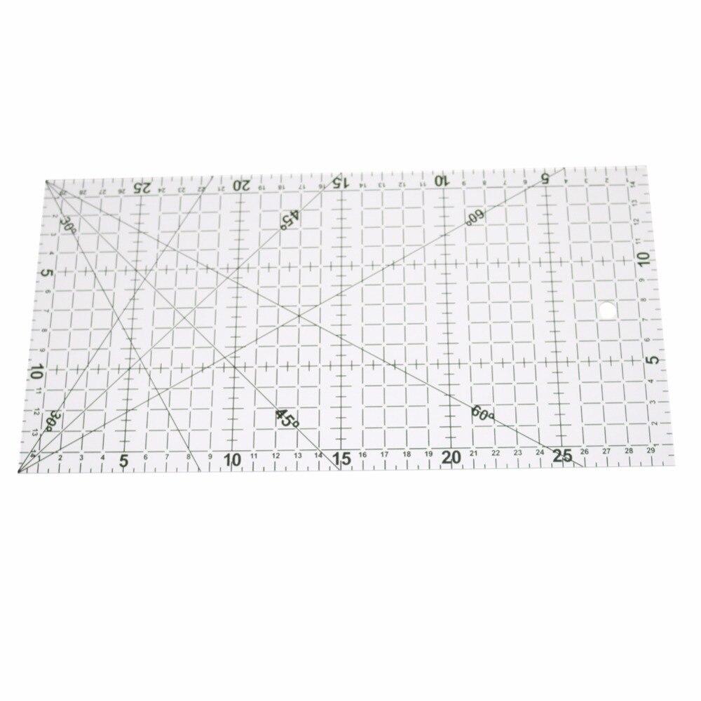 1 ud. Regla de dibujo transparente alineada Patchwork acrílico de 30x15cm Regla de medición de costura para oficina y escuela