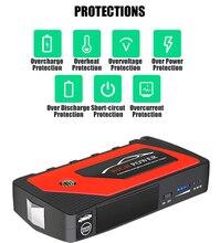 Batería de Banco de aumento de potencia de coche 69800mAh 12V dispositivo de arranque automático cargador de arranque de coche batería de emergencia de arranque Dropshipping