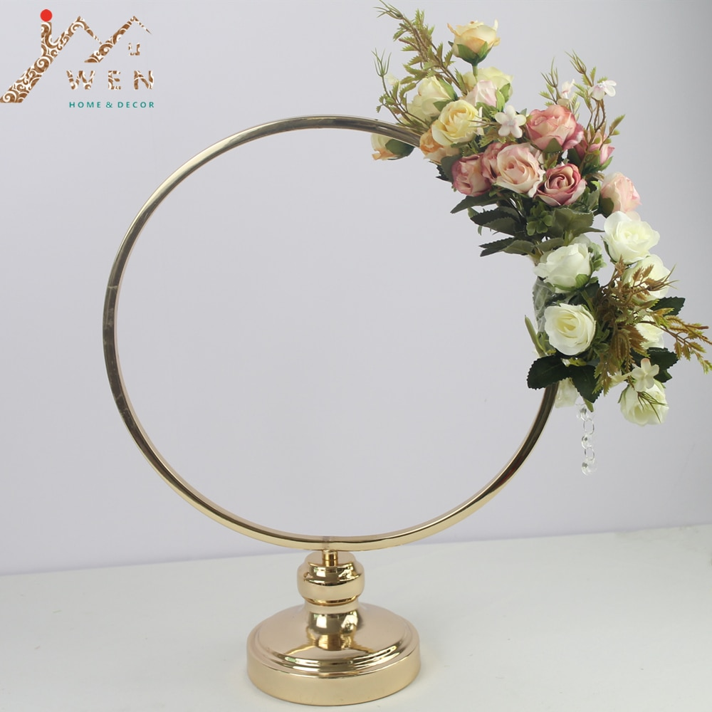 قطعة مركزية لطاولة الزفاف ، مجموعة من 10 قطع ، رف معدني صناعي ، طريق ، حامل زهور ، زخرفة خلفية