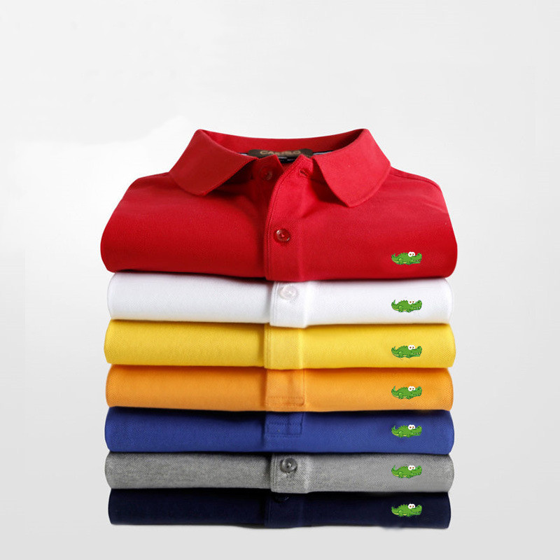 2021 New Men Polo Shirt Casual Business Tops Embroidery Polos Shirts Mens Short Sleeve Polo Homme Fashion Slim Lapel Tees S-6XL
