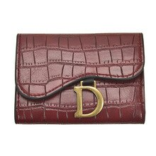 European and American Wallet for Women Simple Fashion Folding Card Holder Girls Mini Wallet Lady Fem