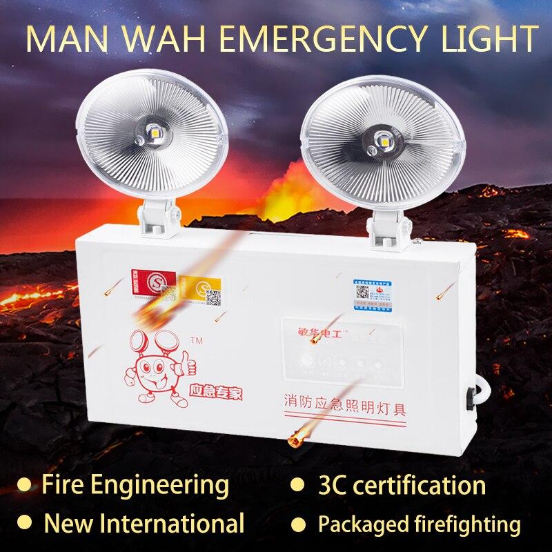 Яркий двойной головкой 5 Вт светодиодный аварийный светильник портативный светильник ing лампа с аккумуляторные батареи для общежитий, офис...