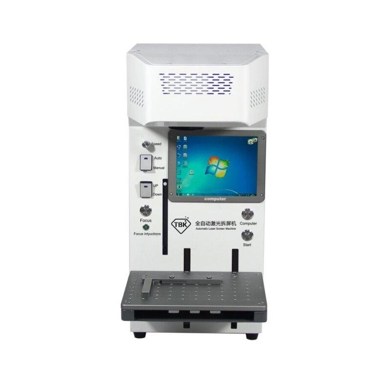 LY TBK 958A auto focus LCD fibra láser reparación máquina 20W para IPhoneX XS Max 8 + espalda cubierta de vidrio MARCO DE